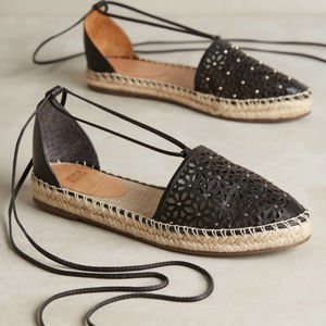 Anthro Jasper & Jeera Rosecut Lace Up Espadrilles